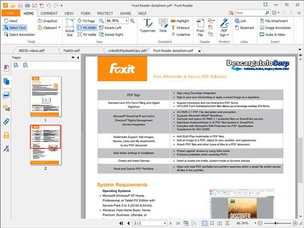 Foxit Reader Abrir o crear documentos PDF