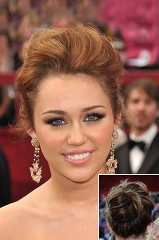 Miley Cyrus' Messy Bun | Top Hairstyle 2012