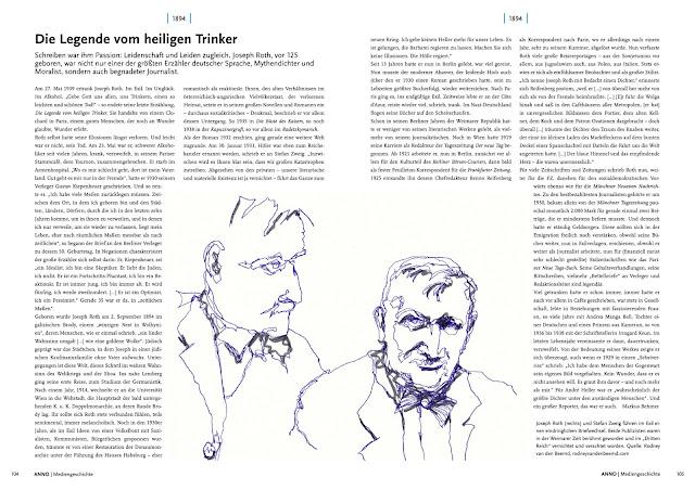 Joseph Roth in Anno - Das Magazin der Medienjubiläen