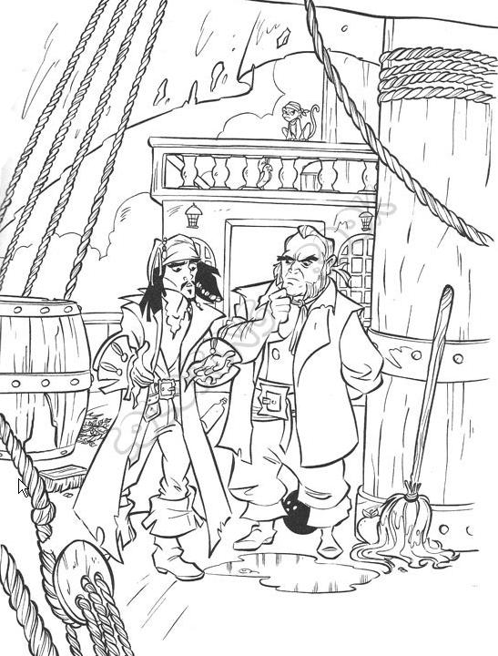 pirates caribbean coloring pages | Pirates Of The Caribbean Coloring Pages