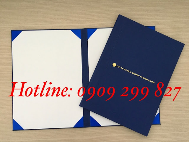 Mẫu bìa đựng tốt nghiệp chất lượng và sang trọng nhất - 0909 299 827 8