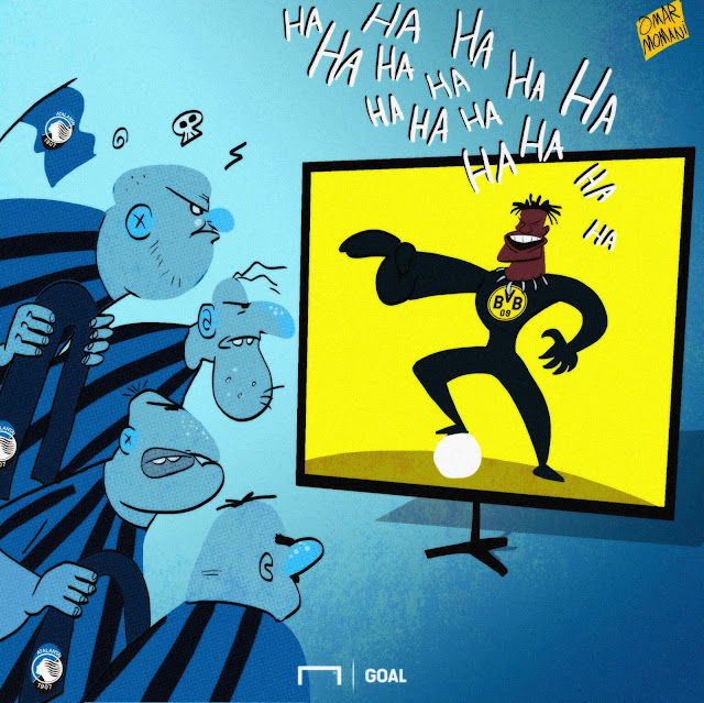 Black Panther Batshuayi laughs at Atalanta fans