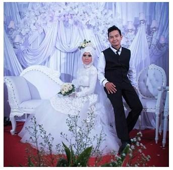 15 Contoh Gaun Muslim Pernikahan Model Syar I Terbaru