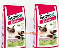 Logo Vinci gratis un mese di lettiera Sanicat 7 Days