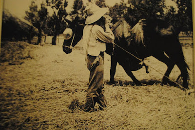 Llorenç Salom i Ferrer Calanxo batent a l'era l'any 1932 a Santa Maria del Camí