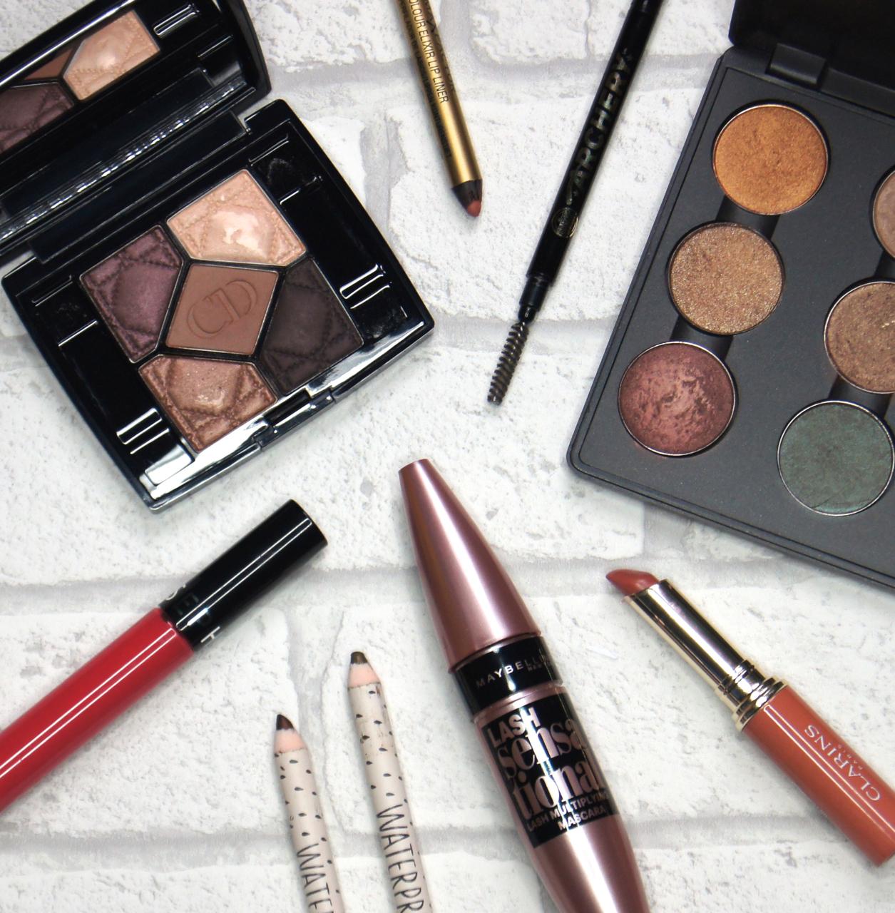 best makeup products 2015 eyeshadow eyeliner mascara brow pencil lipliner lipstick