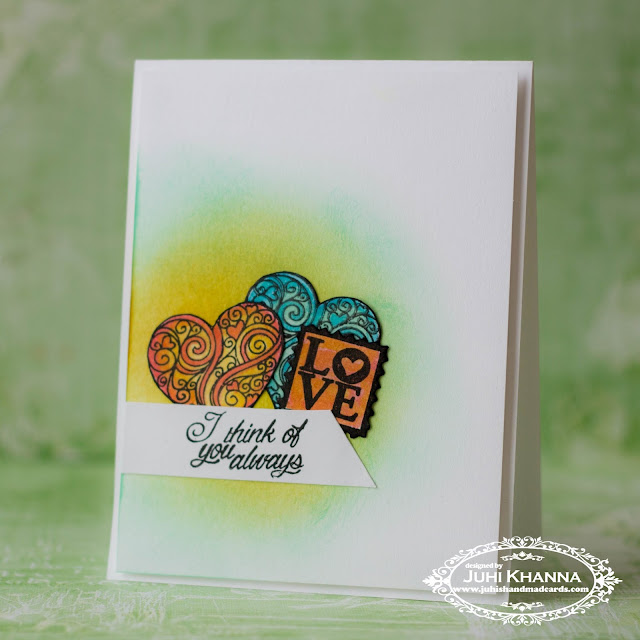 Clean and Simple #cascard with #peek-a-boo stamps