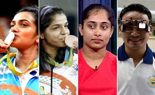 सिंधू, पीवी साक्षी, दीपा और जीतू राय को मिलेगा खेल रत्न पुरुस्कार