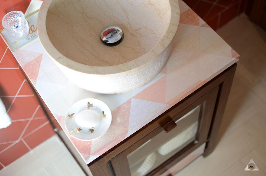 vinilo adhesivo para renovación mueble baño