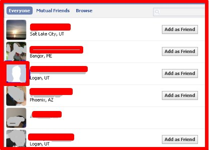 how to see facebook profile private