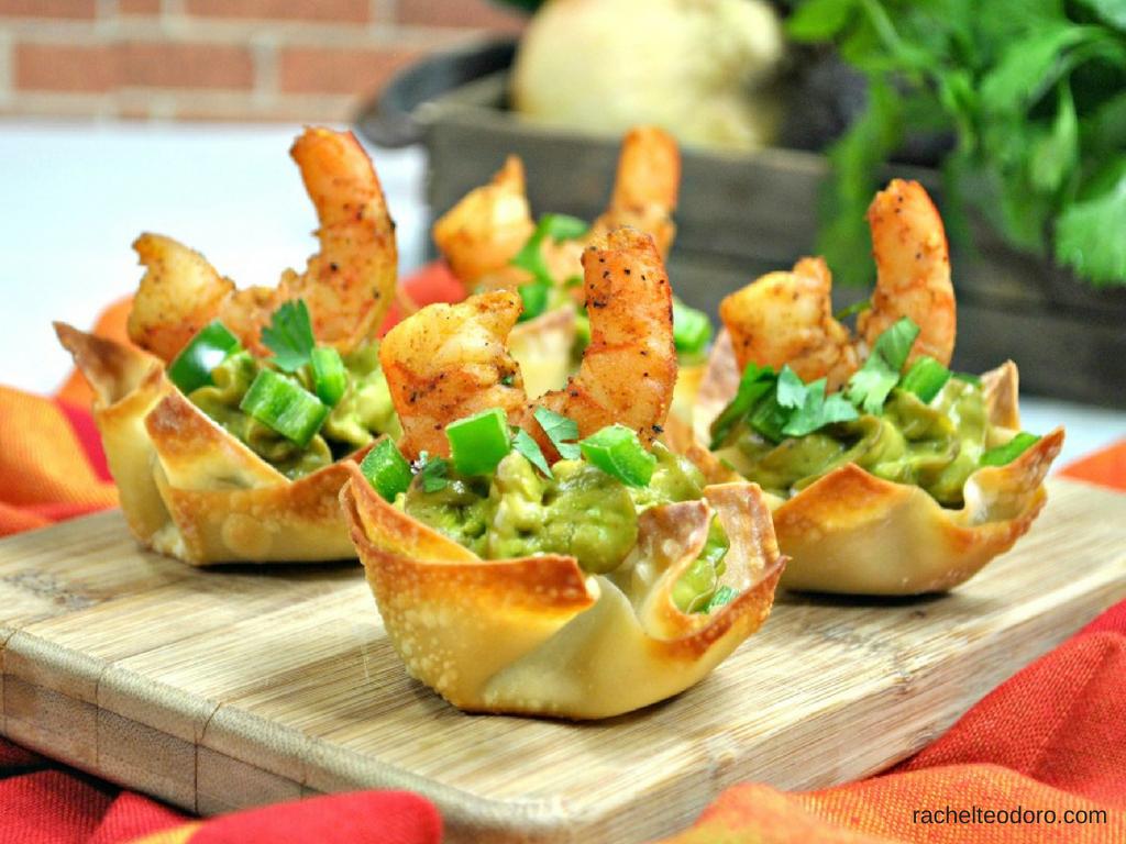 Shrimp Avocado Wonton Cup Appetizer Recipe