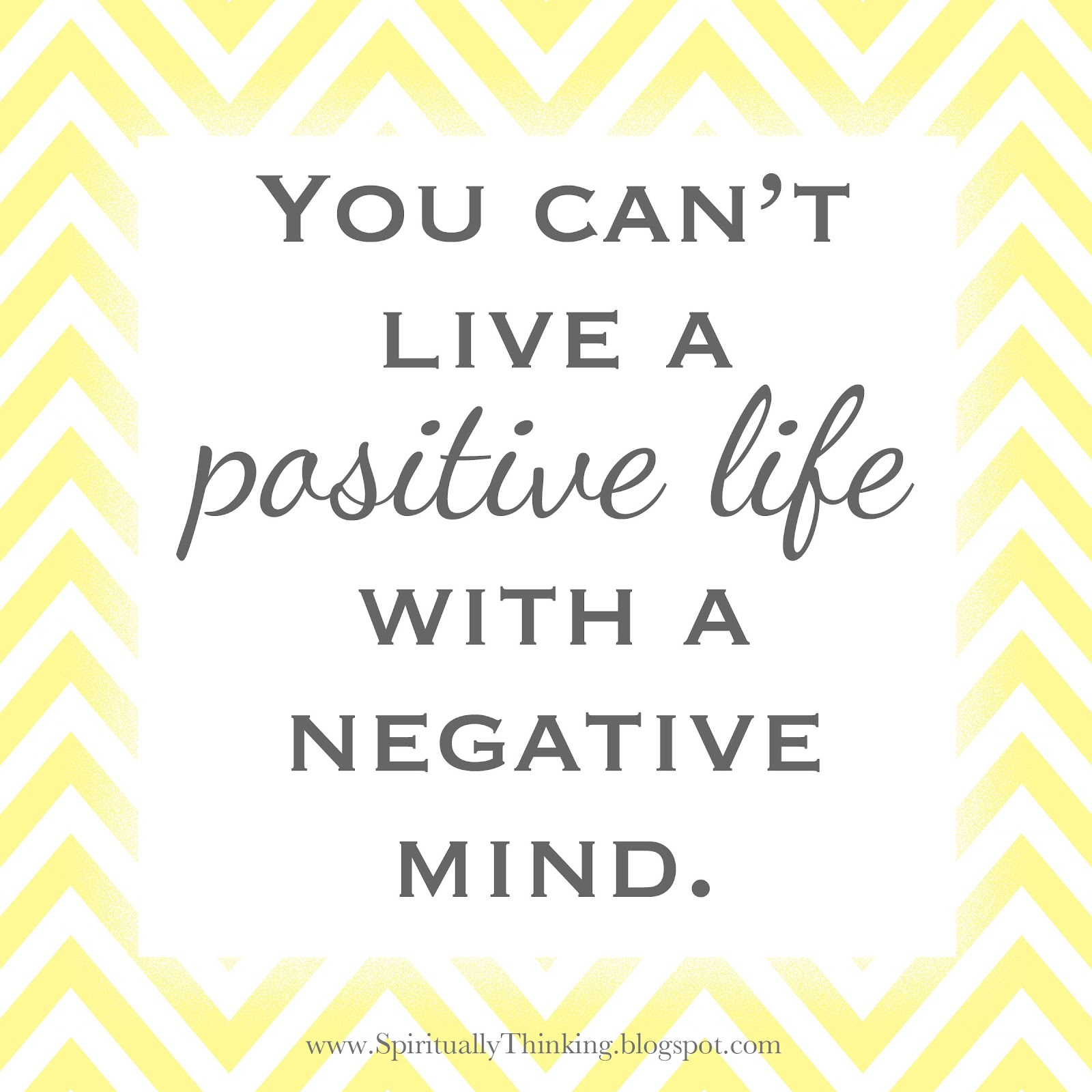 And Spiritually Speaking: Living Positively