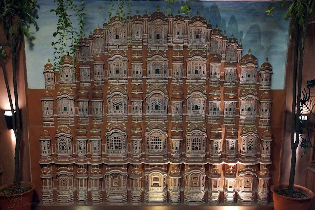 Hawa Mahal replica at the Peacock restaurant, Jaipur
