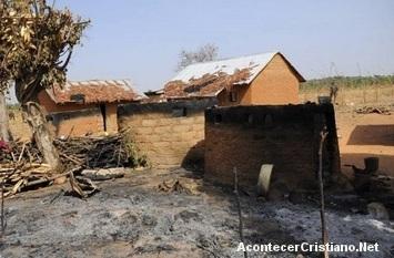 Casas de cristianos destruidas en Nigeria
