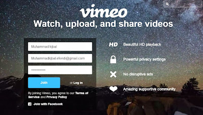 Cara Membuat Akun Vimeo