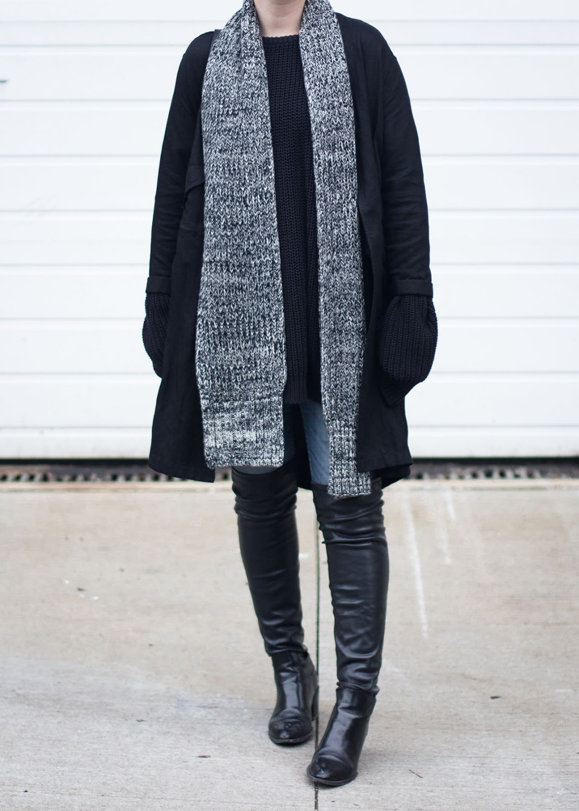 Oversized winter style - Vancouver Fashion Blogger outfit - Aritzia jacket - Zara boots