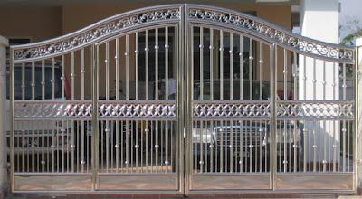 mẫu cửa cổng inox 4 cánh đẹp