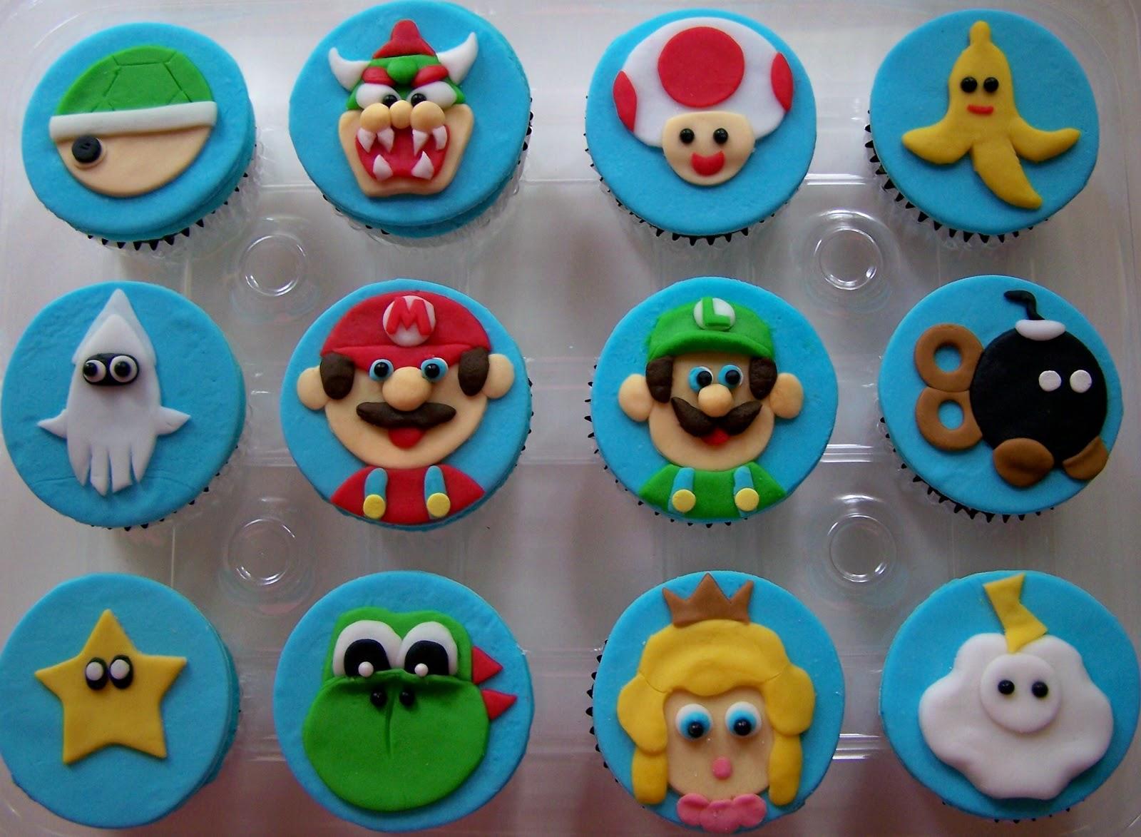 Oven Lovin Mario Kart Cupcakes