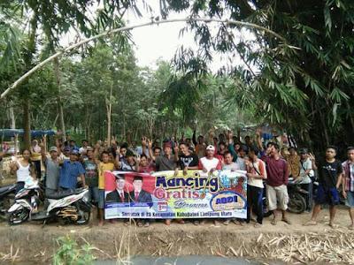 Tim Agung Bersama Budi (ABDI) Gelar Mancing Gratis Serentak di 23 Kecamatan se-Lampung Utara