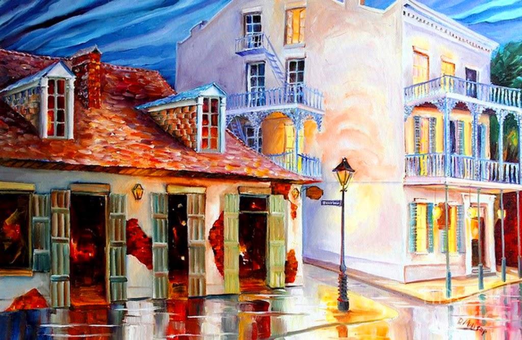Imágenes Arte Pinturas: Acuarela Paisaje Urbano Pinturas