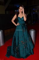 Raashi Khanna in Dark Green Sleeveless Strapless Deep neck Gown at 64th Jio Filmfare Awards South ~  Exclusive 051.JPG
