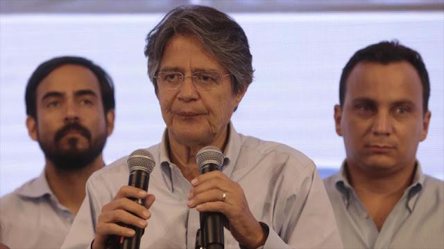 El opositor Lasso desconoce resultado de los comicios de Ecuador