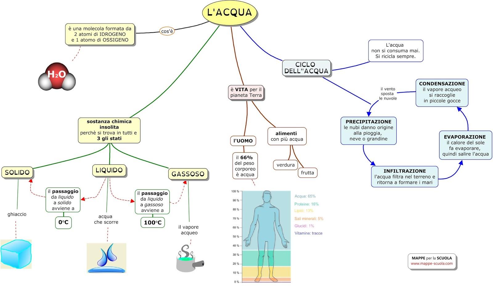 Favoloso MAPPE per la SCUOLA: L'ACQUA, IL CICLO DELL'ACQUA FX26