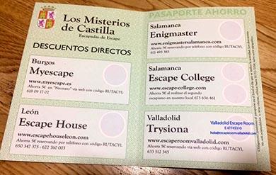 Ruta de Escape Room: Los misterios de Castilla y León Burgos Salamanca Valladolid