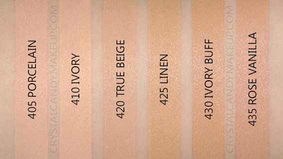 l'oreal fresh wear foundation swatches