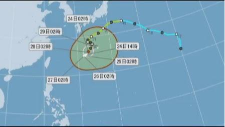 """Topan Ke-10 """"Lionrock"""" Perlahan Mendekati Taiwan, Diperkirakan Jumat Akan Mengenai Taiwan"""