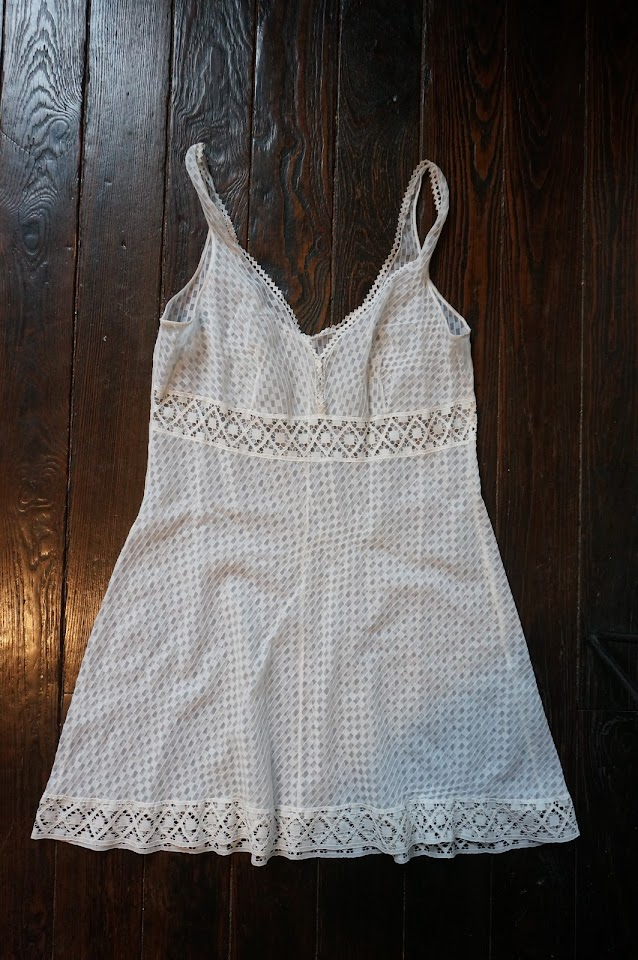 white babydoll nightdress nuisette vintage