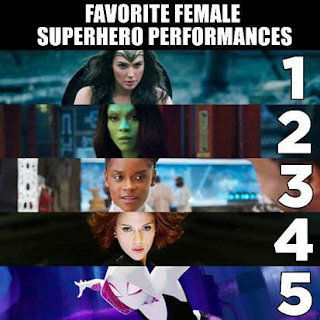 Favorite Female Superhero Performances: