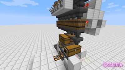 Minecraft 仕分け倉庫に設置する自動かまど