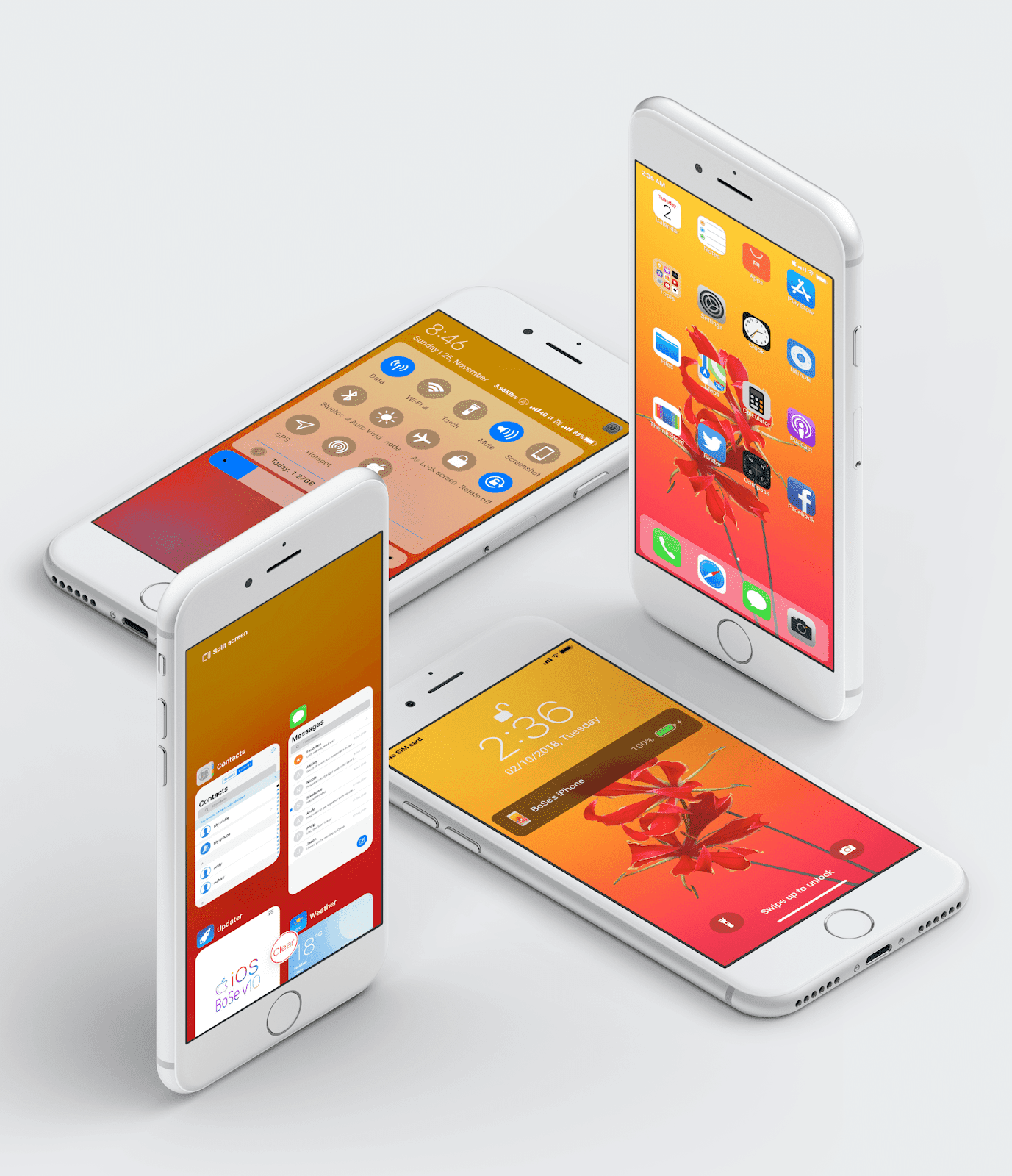 iPhone iOS BoSe V10 MIUI Theme Download For Xiaomi Mobile