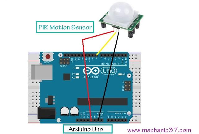 दोनों पिनों को Arduino की 5v और Gnd से connect करना है