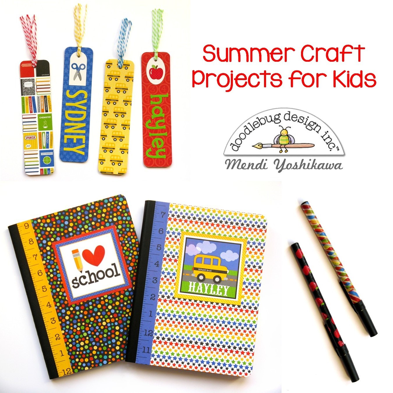 Doodlebug Design Inc Blog: Kids Craft Challenge: Back to
