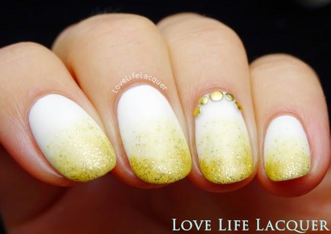 Purjoi Gold Fever gradient nail art by @lovelifelacquer