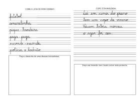 Caligrafia para imprimir e caderno de caligrafia - Atividade Caligrafia - 2