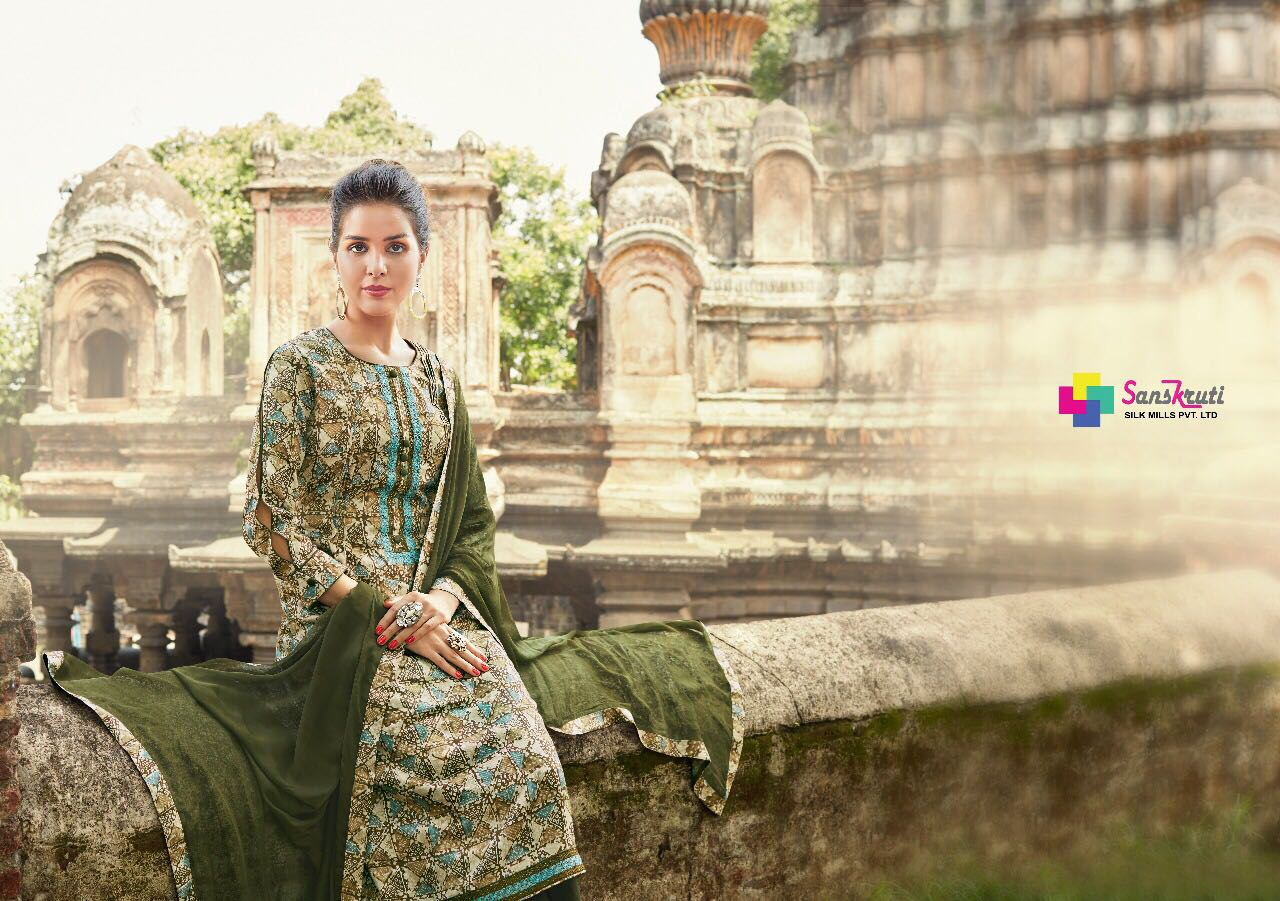 SANSKRUTI-BLOSSOM VOL-15 New Arrival Dress Material Collection