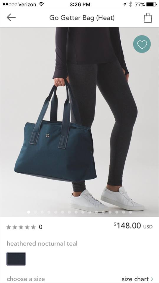 lululemon nocturnal-teal-go-getter-bag