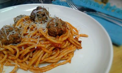 Darlene cooked this: Spaghetti with Meatballs