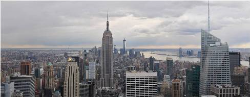 A panoramic view of NYC cityscape with just some of the places to visit after your relocation