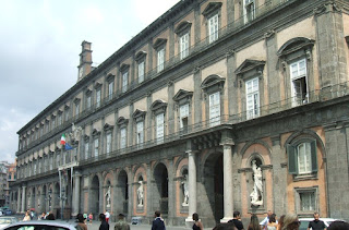 The Palazzo Reale was one of the residences of the  Kings of Naples