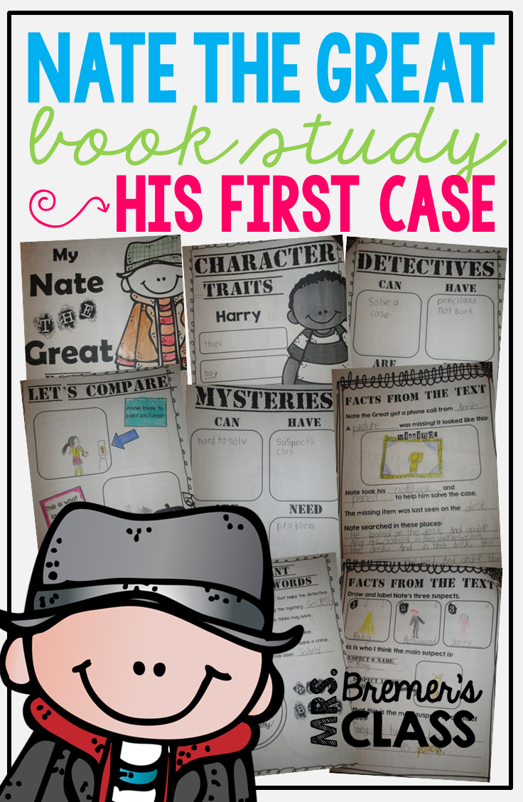 Nate the great book study companion activities and a mystery to solve