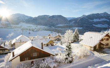 Wallpaper: Winter landscape from Val-de-Charmey