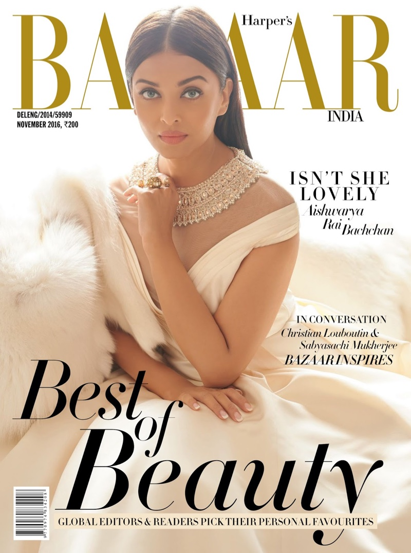Aishwarya Rai Bachchan on Harper's Bazaar India November 2016 Cover
