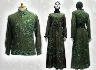 Model Baju Batik Couple Muslim Terbaru