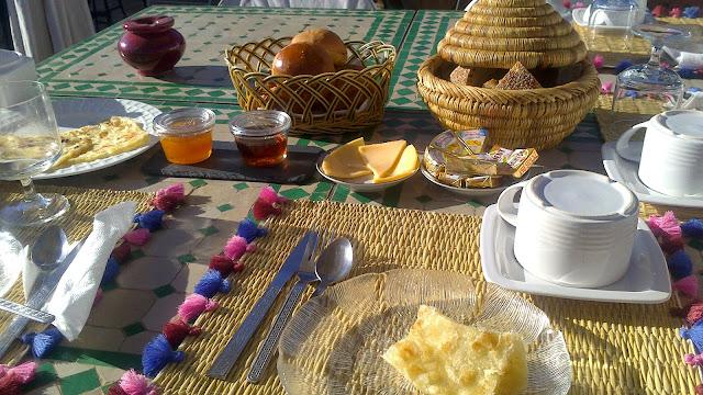 Desayuno en el riad de Marrakech