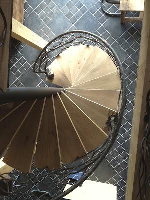 escalier, collimaçon, fer forgé