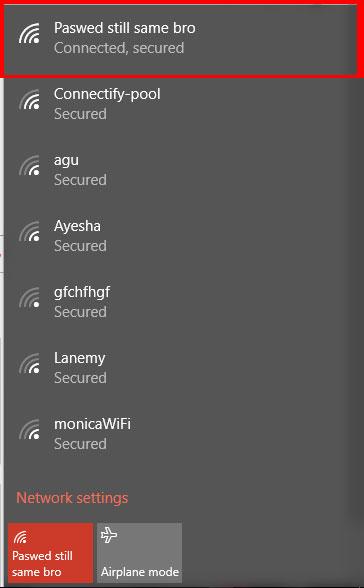 SSID wifi rumah aku